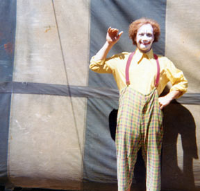 Toby the Clown at Circus Towne